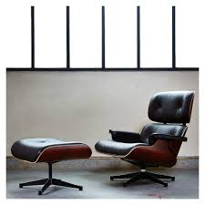eames leather chair and ottoman black. classic eames lounge chair \u0026 ottoman black leather santos palisander frame - the conran shop and r