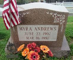 Myra Andrews (Tannehill) (1907 - 1997) - Genealogy