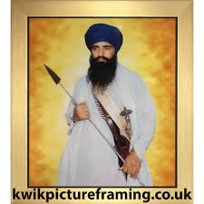 sikh leader sant jarnail singh bhindranwale picture frame choice of picture frames sizes in inches