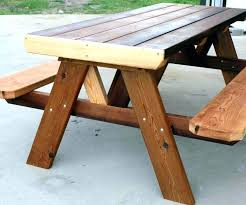 wooden picnic tables picnic tables large size of picnic table home depot round wood picnic table