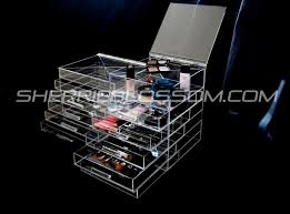 luxury clear acrylic makeup organizer collection