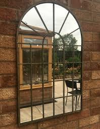 garden wall mirror gothic arch metal