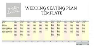 round table seating chart template top planner free