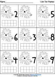 15 best images of kindergarten math 10 frame worksheets