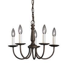 kichler m 17 in 5 light tannery bronze vintage hardwired candle chandelier