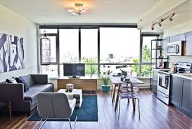 Apartment Living Room Layout Joining With Dining Space And Kitchen Cool Apartment Living Room Layout