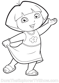 Dora Dora The Explorerparty Favorscoloring Pagesbackpackmoreprintrisks