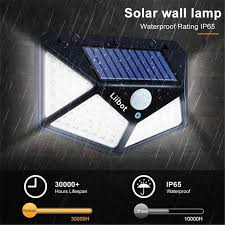 Goodland 180 <b>100 LED Solar</b> Light Outdoor Solar Lamp Powered ...