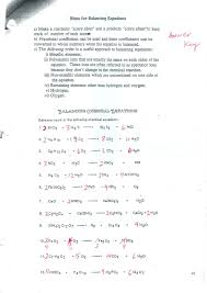 49 balancing chemical equations worksheets with answers 1405151