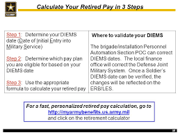 Army Retirement Pay Chart Department Of The Army Preparing For Retirement Seminar