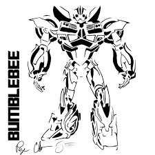 Small Picture Transformer Bumblebee As Car Coloring Pages Transformer Robot