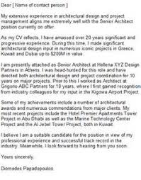 cover letter architect sample 2 architecture cover letter