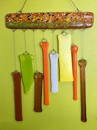ticket fused glass wind chimes for event fused glass wind chimes