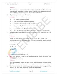 Chapter 16 Light Study Guide Ncert Solutions For Class 8 Science Chapter 16 Light Pdf