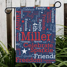 personalized patriotic word art garden flag personalized word art