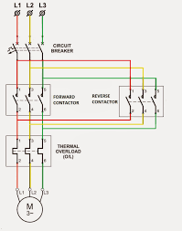three phase wiring diagram motor thermal overload relay principle Reversing Contactor Diagram circuit breaker and direct online starter wiring diagram with rh videojourneysrentals com