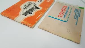 Vintage 1979 79 Toyota Corolla Owners Manual and Guide Service ...