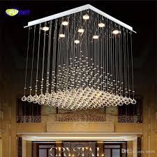 fumat k9 crystal chandelier modern re hotel stair led crystal lighting fixtures lobby rain drop chandeliers res lights chandelier dining room