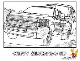 eleg beautiful truck and trailer coloring pages
