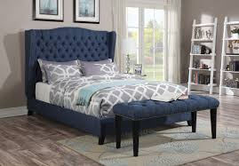 blue platform bed. Plain Blue Acme Furniture 20880 Faye Blue Wingback Tufted Nailhead Trim Platform Queen  Bed Frame Inside Blue Platform Bed O