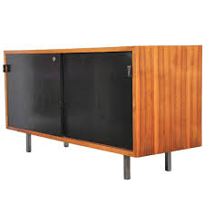 small s florence knoll walnut credenza cabinet at stdibs