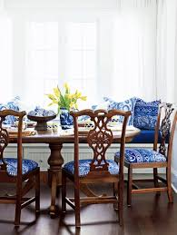 inviting dining area blue and white decor country style decorating with blue and white home interior design