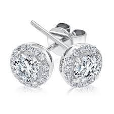 Forevermark center of my universe round diamond halo stud earrings 7 8