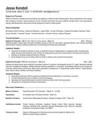 Sample Career Objective For Teachers Resume Teacher resume objective education objectives 100 in for job doc 39