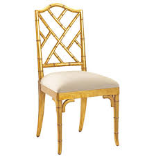 chippendale dining chairs. Chinese Chippendale Hollywood Regency Gold Bamboo Dining Chair | Kathy Kuo Home Chairs