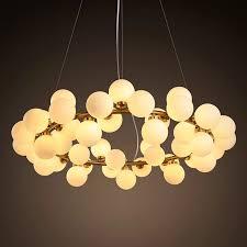 cute milk white bubble ball glass chandelier modern new design led chandelier lighting
