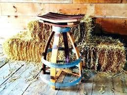 Reversible reclaimed wine barrel Ideas Bar Stools For Wine Barrel Table Outstanding Reclaimed Stool Furniture Ideas Made Out Of Barrels Medium Wine Barrel American Country Home Store Reversible Reclaimed Half Wine Barrel Table With Tempered Glass Top