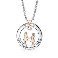ayllu rose gold plated sterling silver stand together in strength circle pendant necklace 18in