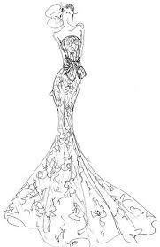 Fashion Illustration Of An Elegant Gown Dress Sketch Fashion