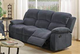 fabric recliner sofa. Broy Blue Grey Fabric Reclining Sofa Double Recliner