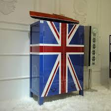 british flag furniture. can be custom painted union jack british flag creative personality mediterranean blue boy child wardrobe locker furniture