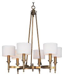 maxim 22375omnab fairmont 30 inch diameter 6 lamp natural aged brass chandelier light loading zoom