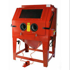 get ations 260 gallon large floor standing sandblast cabinet w attached vacuum system