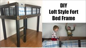 DIY LOFT BED | LOFT FORT BED FRAME | Momma from scratch - YouTube