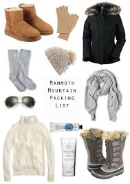 Mammoth Mountain Packing List / Turquoise And Teale