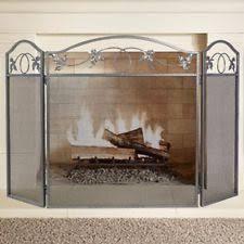 iron fireplace screen. Amagabeli 3 Panel Pewter Wrought Iron Fireplace Screen Outdoor Metal Decorative