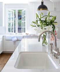 white porcelain sink. White Porcelain Island Sink With Hicks Pendant
