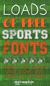 Free Sports Fonts Free Sports Fonts All That We Make Pinterest Fonts Sports