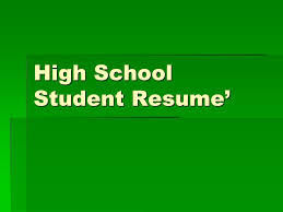 Resume Writing For Highschool Students Mesmerizing High School Student Resume' Ppt Video Online Download