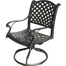 Darlee nassau cast aluminum patio swivel rocker dining chair bbq guys