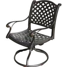 darlee nassau cast aluminum patio swivel rocker dining chair
