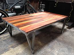 Reclaimed Wood And Metal Coffee Table