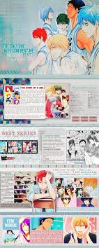 mal profile layouts kuroko no basket layout by notmi on deviantart