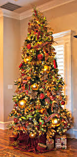 Show Me Decorating Create Inspire Educate Decorate Traditional Christmas  Tree Red Green Gold Decor Trees