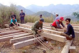 carpenters building a house - vietnam, carpenters, carpentry, construction  workers, home builders ...