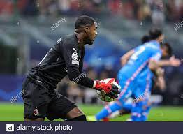 Milan, Italy. 28th Sep, 2021. Mike Maignan of AC Milan in action during the  UEFA Champions League 2021/22 Group Stage - Group B football match between  AC Milan and Club Atletico de